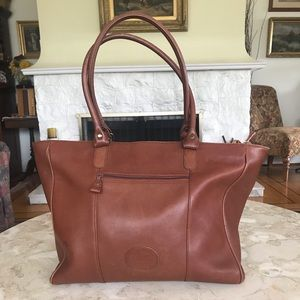Eddie Bauer Extra Large Leather Tote Bag